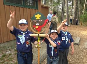 Showing scout spirit!